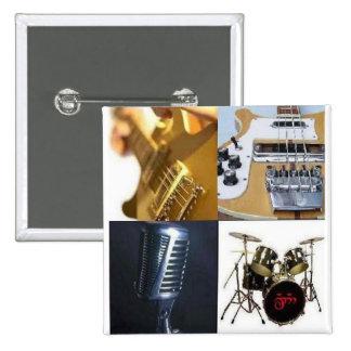 Guitar Bass Vocals Drums Pinback Button