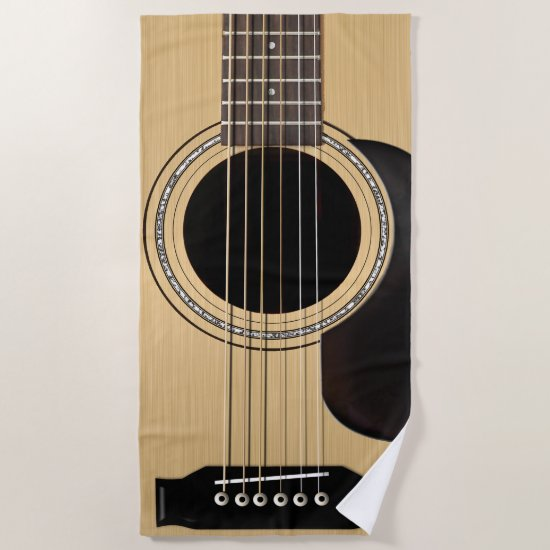 Guitar Beach Towel
