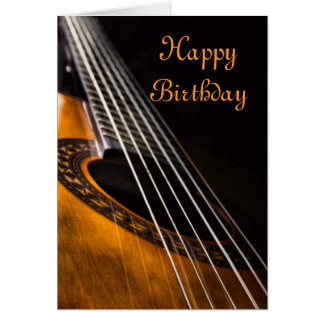 Guitar birthday card