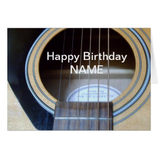 Guitar Birthday card personalise for anyone.