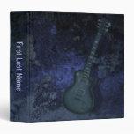 Guitar blue binder