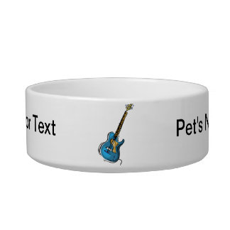 Guitar blue yellow shaded graphic bowl