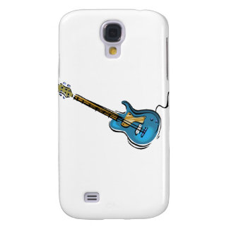 Guitar blue yellow shaded graphic samsung galaxy s4 cover
