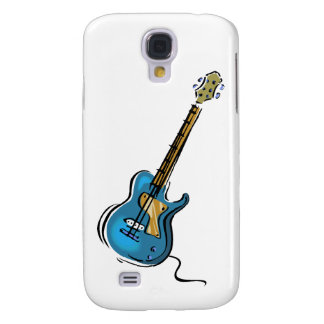 Guitar blue yellow shaded graphic galaxy s4 case