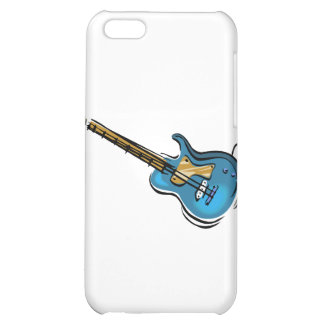 Guitar blue yellow shaded graphic iPhone 5C cases