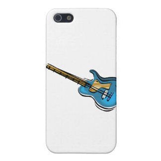 Guitar blue yellow shaded graphic iPhone 5 case