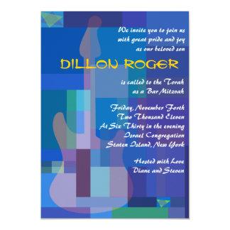 GUITAR BLUES Musical Bar Bat Mitzvah Invitation