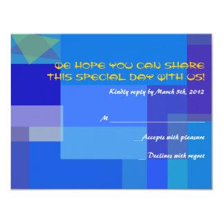GUITAR BLUES Musical Bar Bat Mitzvah Reply Card