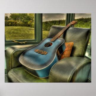 Guitar Blues Print
