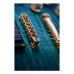 Guitar Body in blue Poster