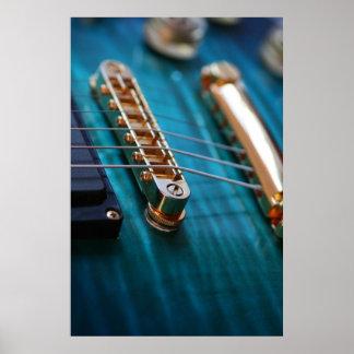 Guitar Body in blue Print