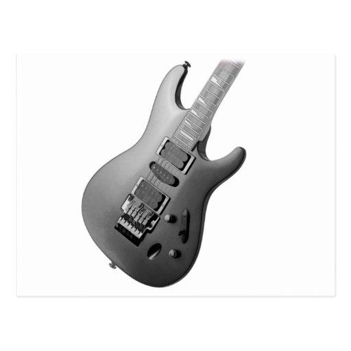guitar body postcard