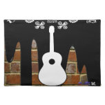 GUITAR BRICK BACKGROUND PRODUCTS PLACEMATS
