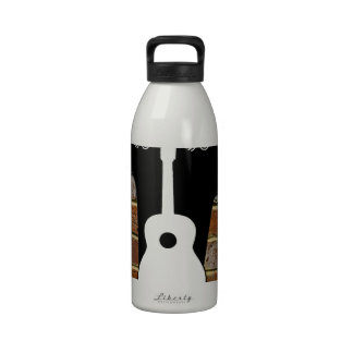 GUITAR BRICK BACKGROUND PRODUCTS DRINKING BOTTLE
