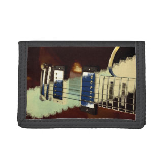 guitar brown electric grunged invert music trifold wallets