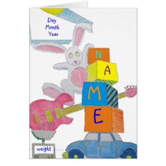 Guitar Bunny Greeting Card