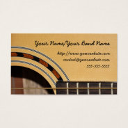Guitar Business Card at Zazzle