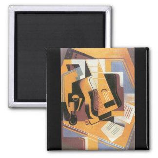 Guitar by Juan Gris 2 Inch Square Magnet