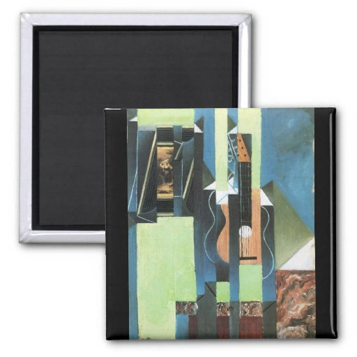 Guitar by Juan Gris Fridge Magnets
