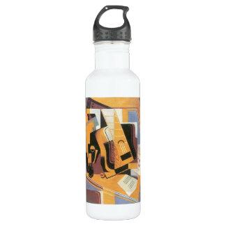 Guitar by Juan Gris Stainless Steel Water Bottle