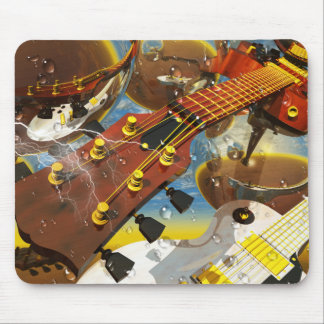 Guitar by Lenny art Mouse Pad