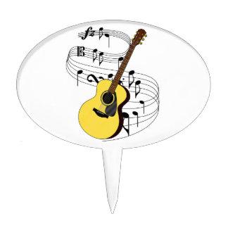Guitar Oval Cake Topper