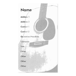 Guitar Card Double-Sided Standard Business Cards (Pack Of 100)