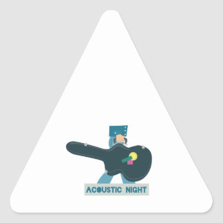 Guitar Case Acoustic Show Triangle Sticker