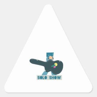 Guitar Case Solo Show Triangle Sticker