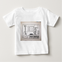 Guitar Cat and Lamp by Piliero Shirt
