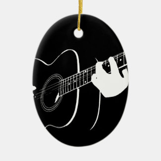 guitar ceramic ornament
