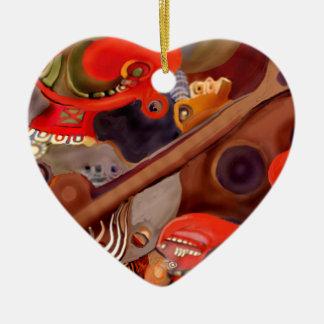 Guitar Chaman by Albruno* Ceramic Ornament