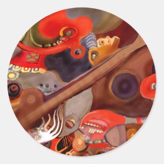 Guitar Chaman by Albruno* Classic Round Sticker