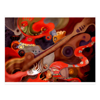 Guitar Chaman by Albruno* Postcard