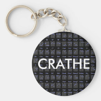 guitar-chord-charblk, CRATHE Keychain