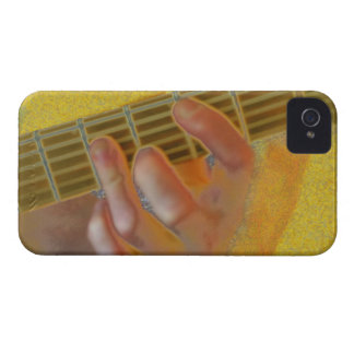 Guitar Chord Hand Yellow iPhone 4 Case-Mate Case