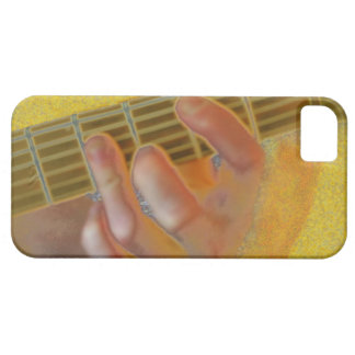 Guitar Chord Hand Yellow iPhone SE/5/5s Case