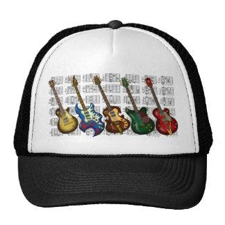 Guitar & chord trucker hat