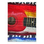 """Guitar Cinco De Mayo Invitation 5"""" X 7"""" Invitation Card"""