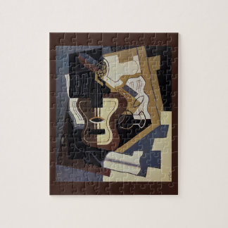 Guitar & Clarinet ~ 1920 ~ Cubism  ~ Juan Gris Jigsaw Puzzle