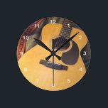 "guitar clock<br><div class=""desc"">guitar wall clock</div>"