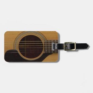 Guitar Closeup Bag Tags