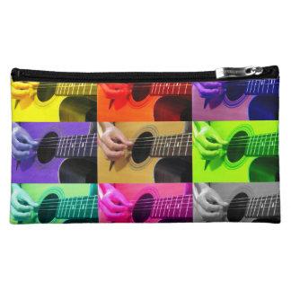 Guitar Collage of Color Hand Bag - Clutch Makeup Bag