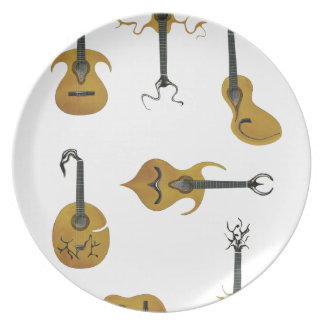 Guitar Collection Dinner Plate