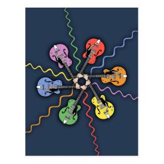 Guitar Color Wheel Postcard