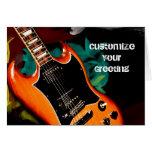 Guitar Colors Greeting Card