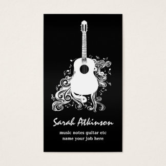 guitar cool black awesome business card