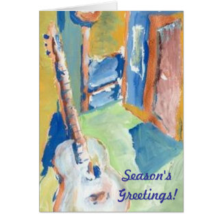 GUITAR CREATOR CHRISTMAS CARD BY RAINE CAROSIN