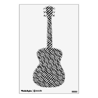 Guitar Custom Black White Texture Graphics Pattern Wall Decal