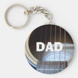 GUITAR DAD KEYCHAIN PERSONALISE BIRTHDAY CHRISTMAS